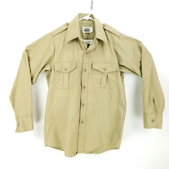 Woolrich Other - Vintage Woolrich Mens M Trail Shirt Epaulets GC13